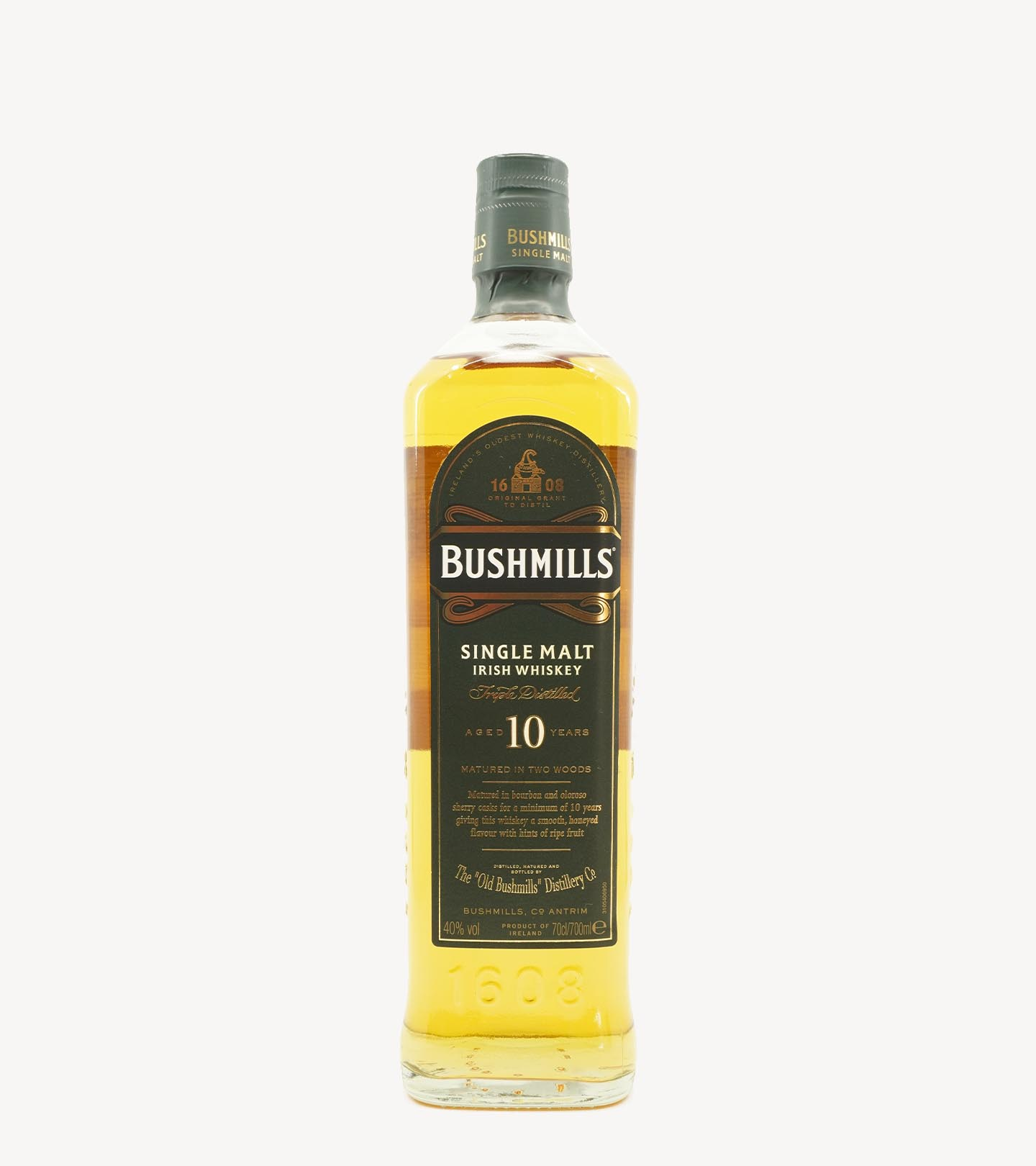 Whisky Malte Old Bushmills 10 Anos 70cl