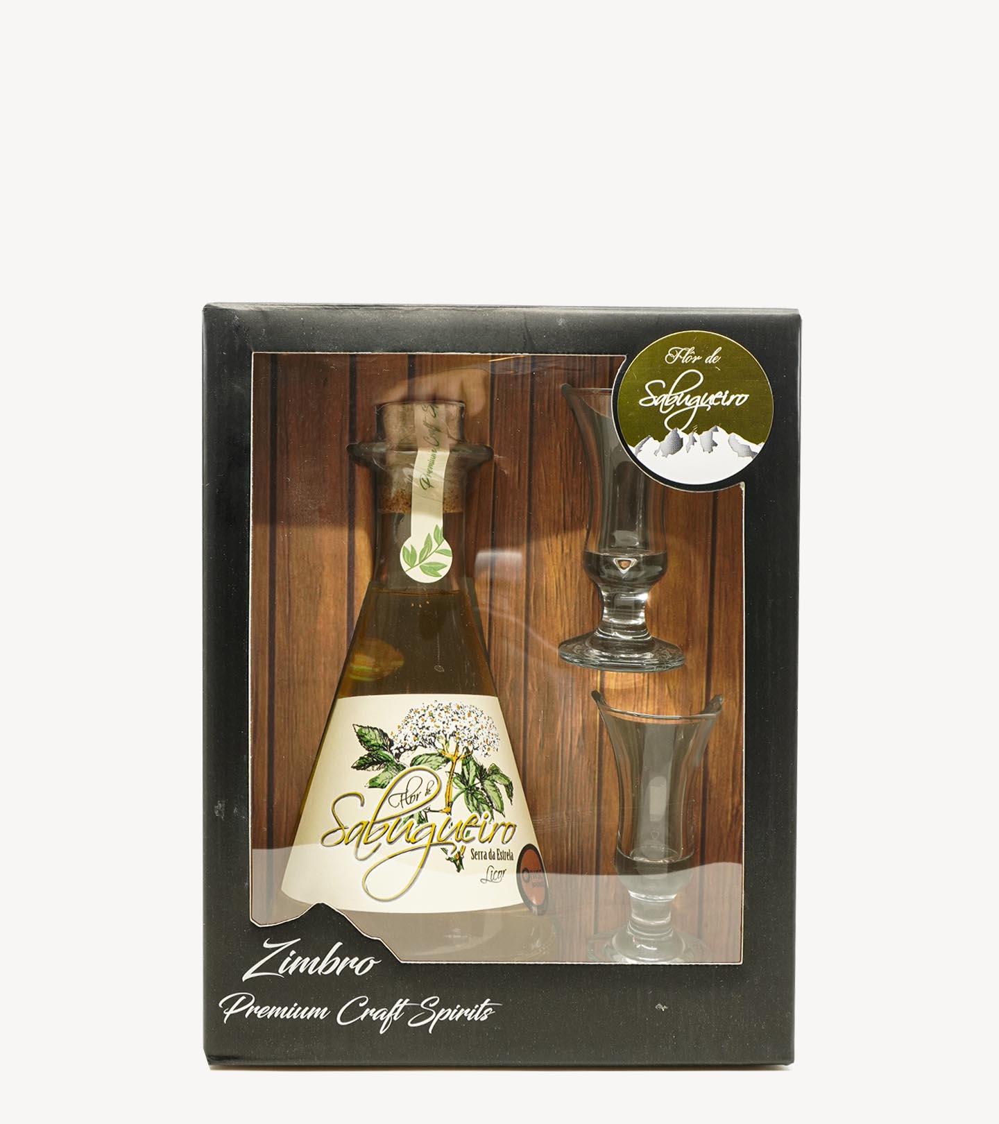 Gift Licor Flor de Sabugueiro c/ 2 Cálices 50cl