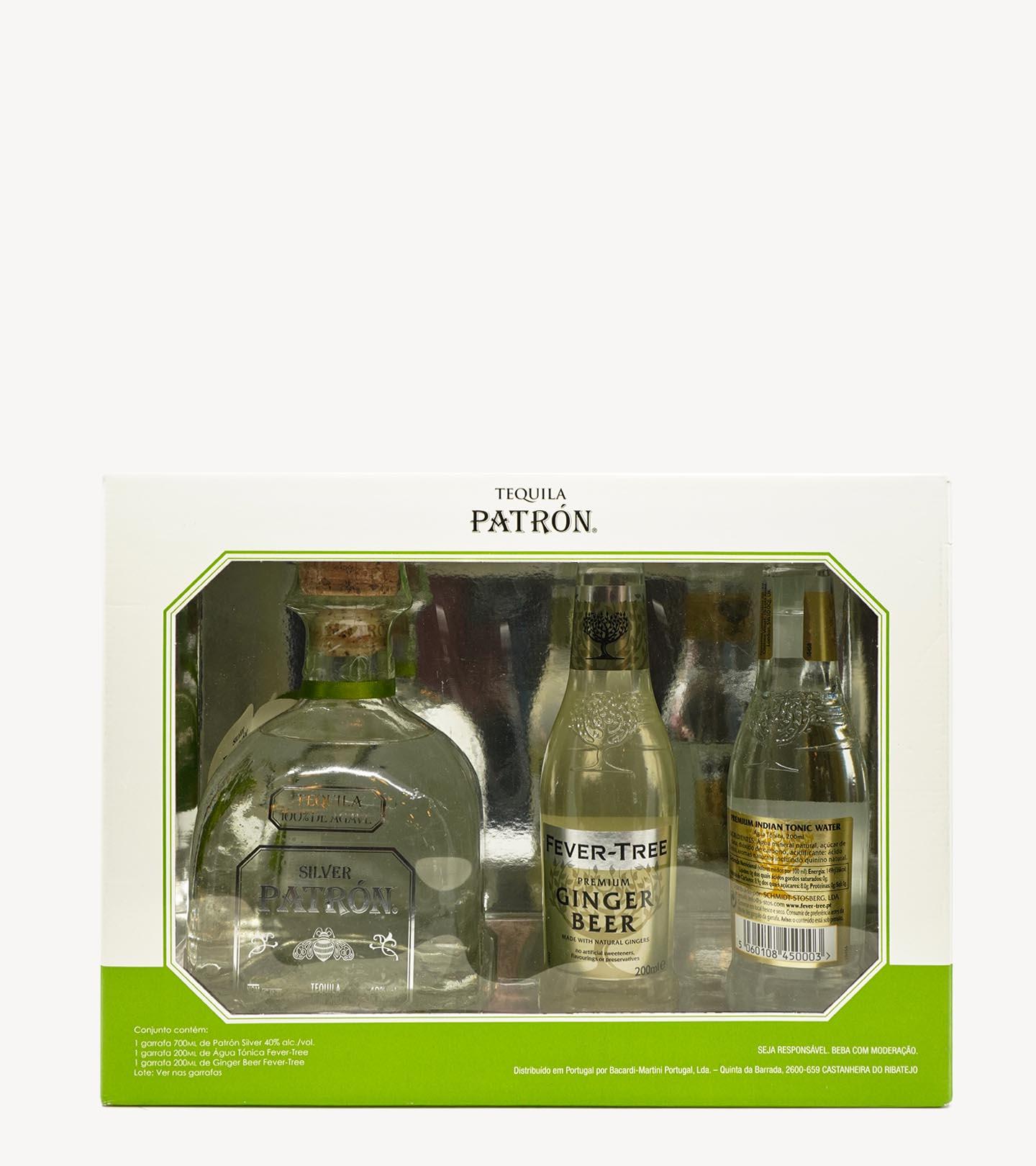 Gift Tequila Patron Silver c/ 2 Águas Tónicas Fever Tree 70cl