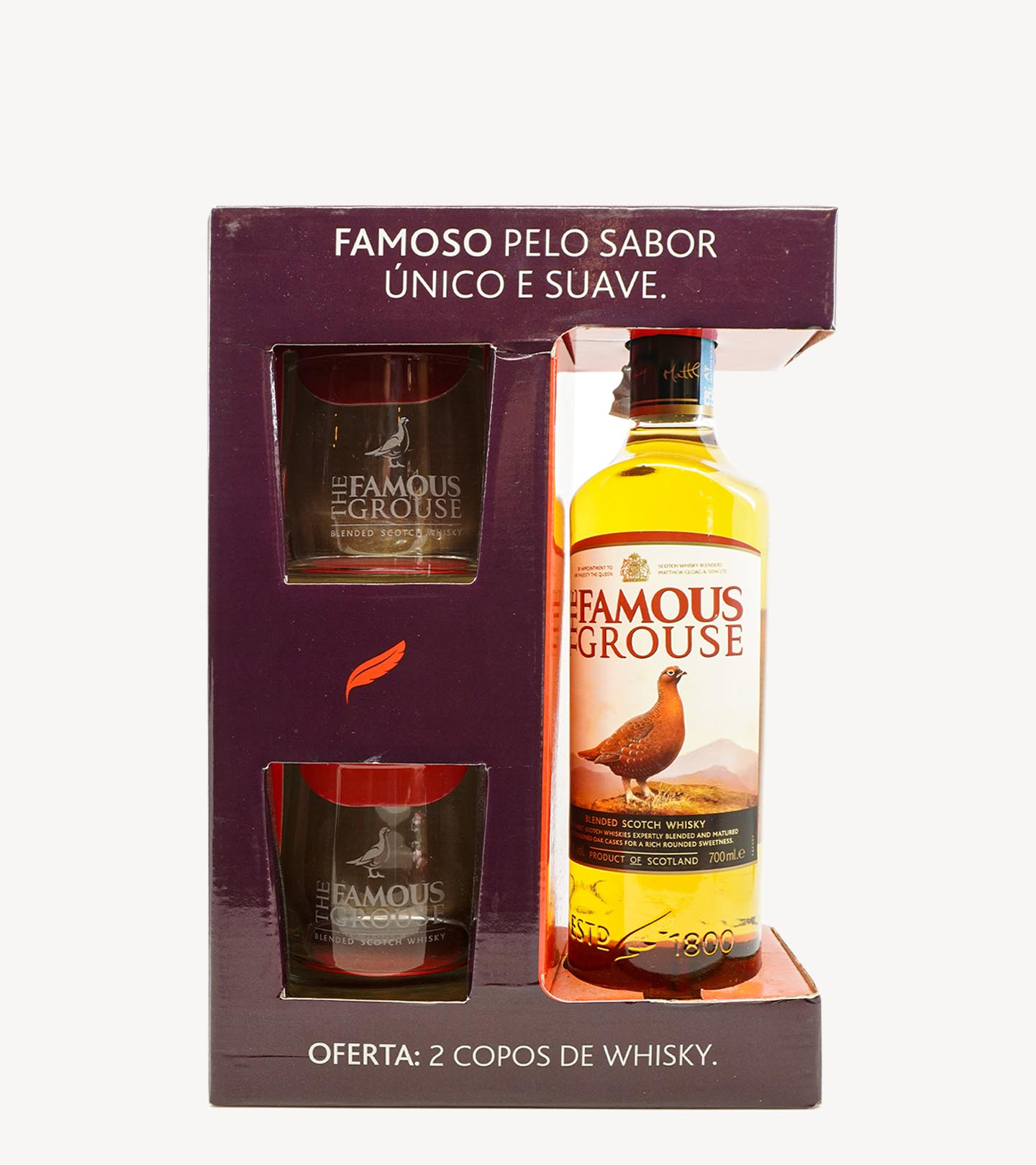 Gift Whisky Famouse Grouse c/ Copos 70cl