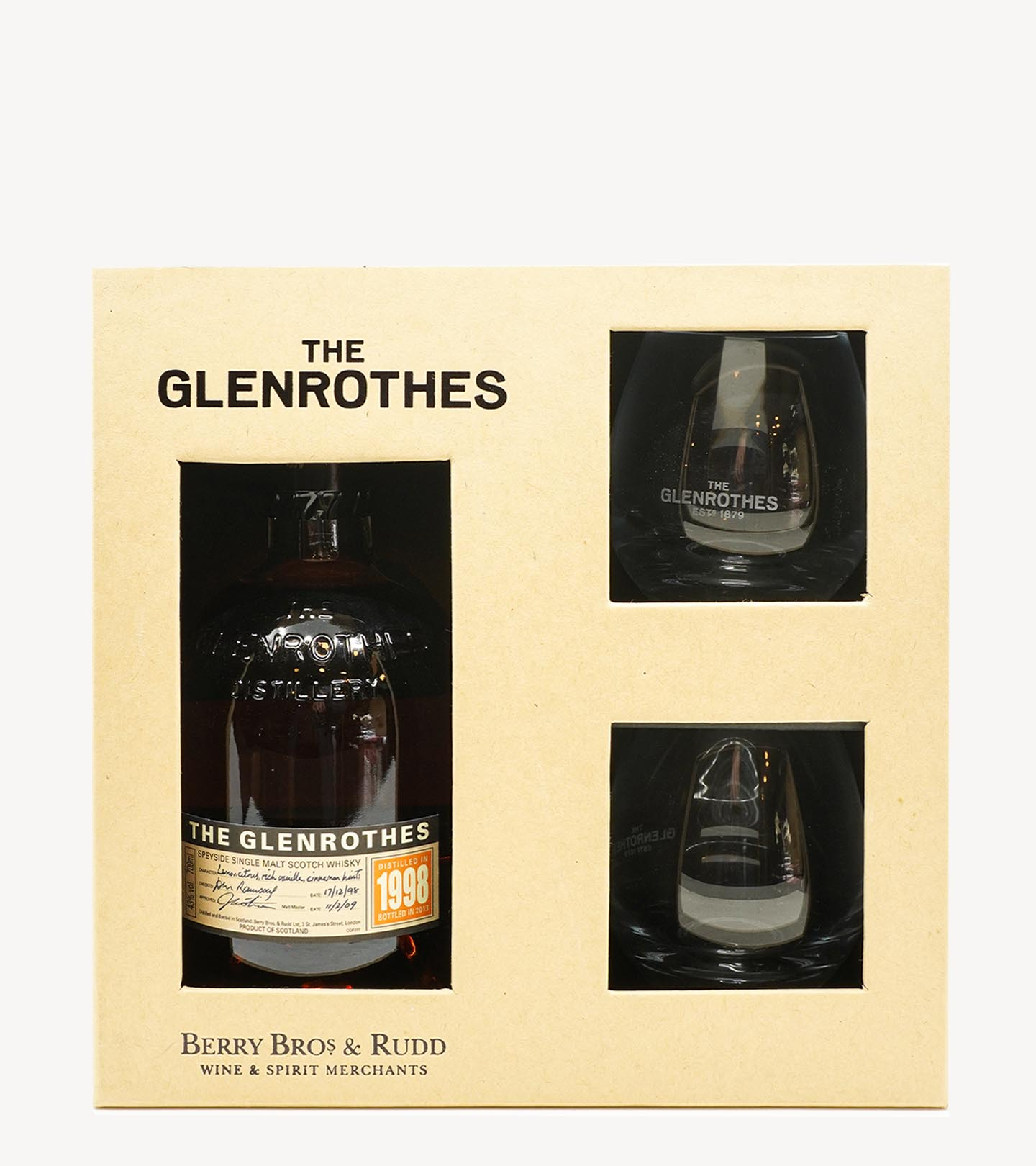 Gift Whisky Glenrothes Vintage 98 c/ copos 70cl