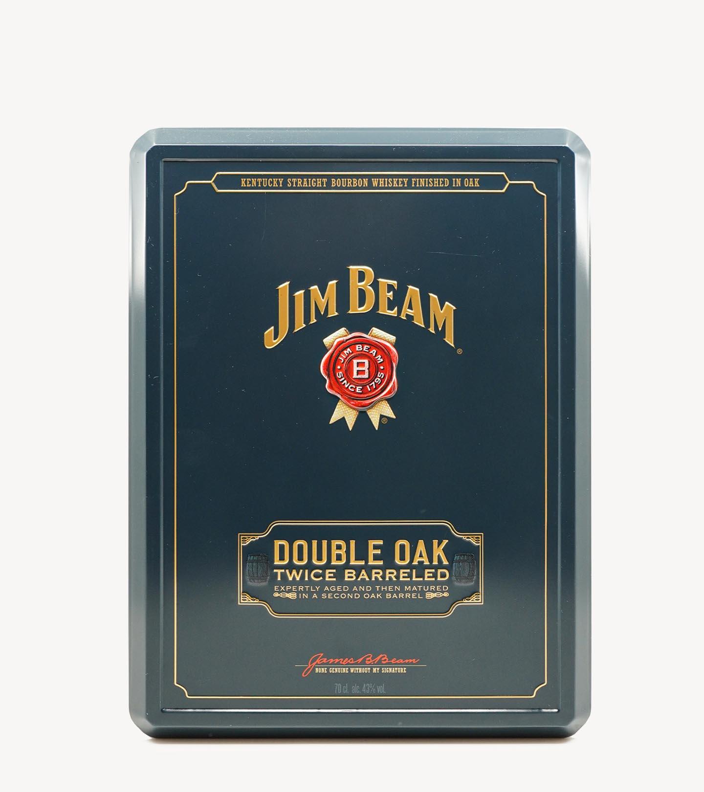 Gift Whisky Bourbon Jim Beam Double Oak c/copos 70cl