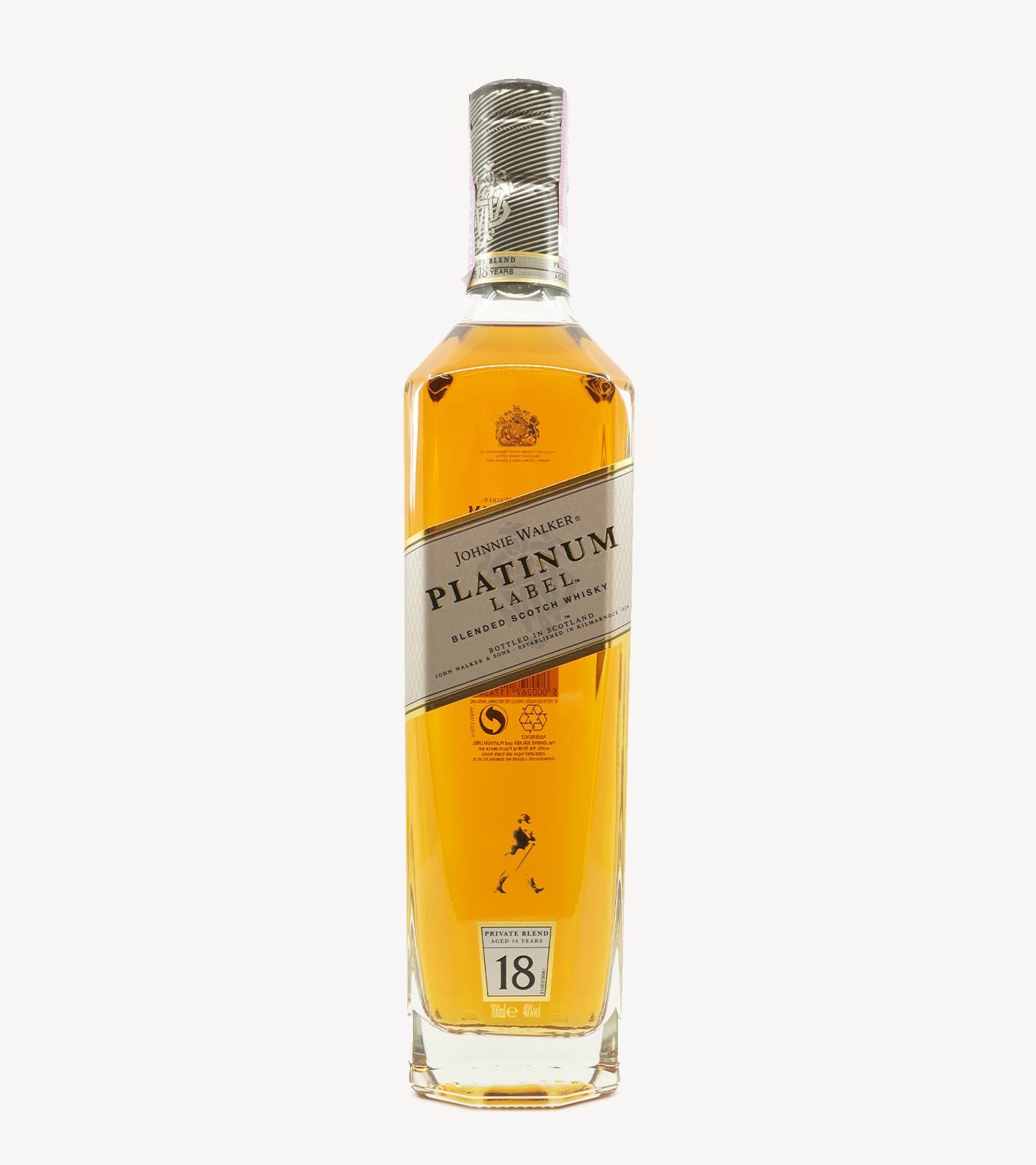 Whisky Johnnie Walker Platinum Label 18 anos 75cl