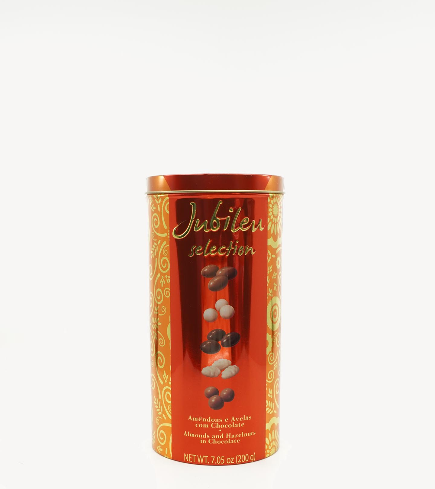 Amêndoas e Avelãs c/ Chocolate Jubileu Selection Lata 200g