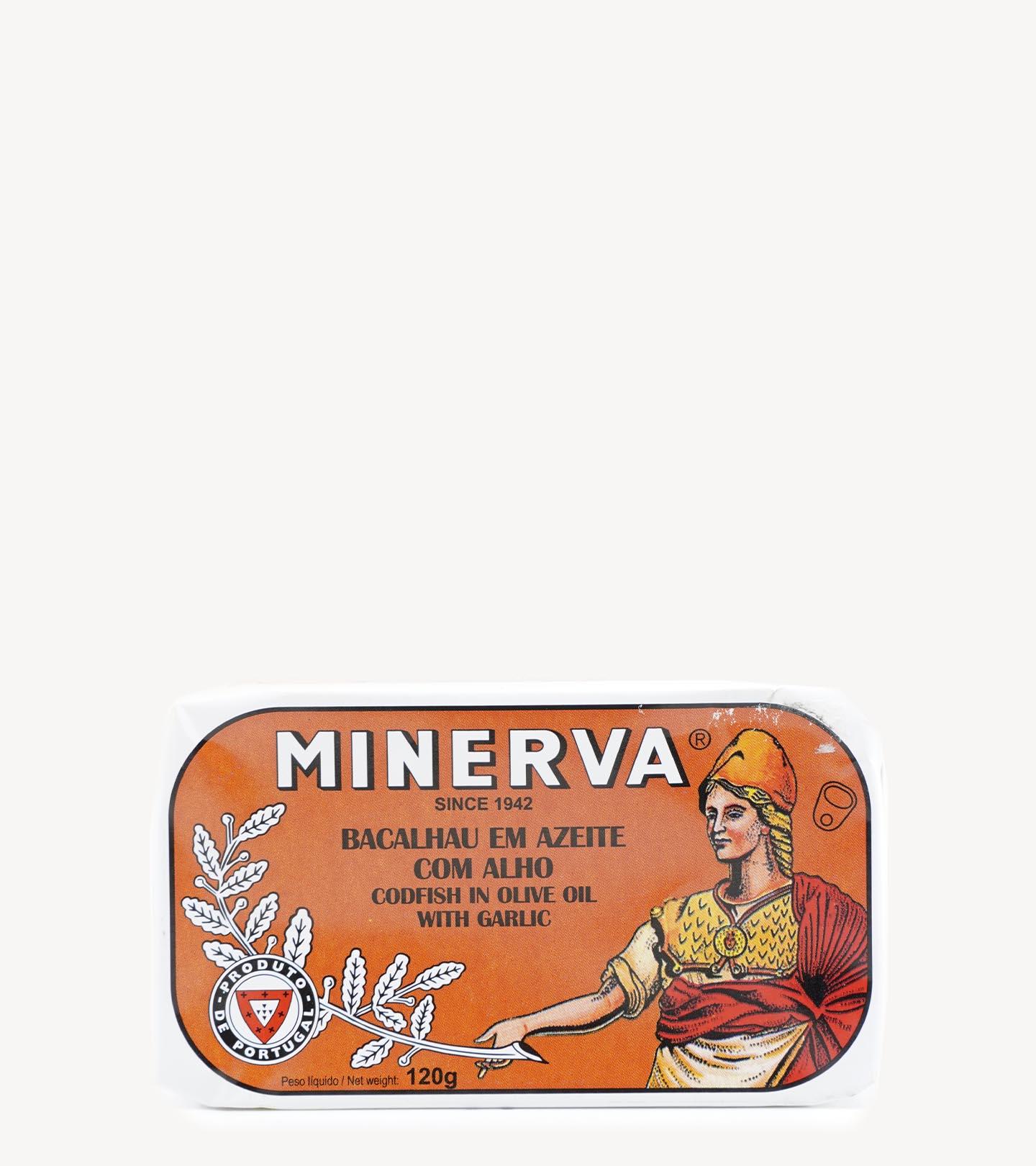 Bacalhau em Azeite c/ Alho Minerva 120g