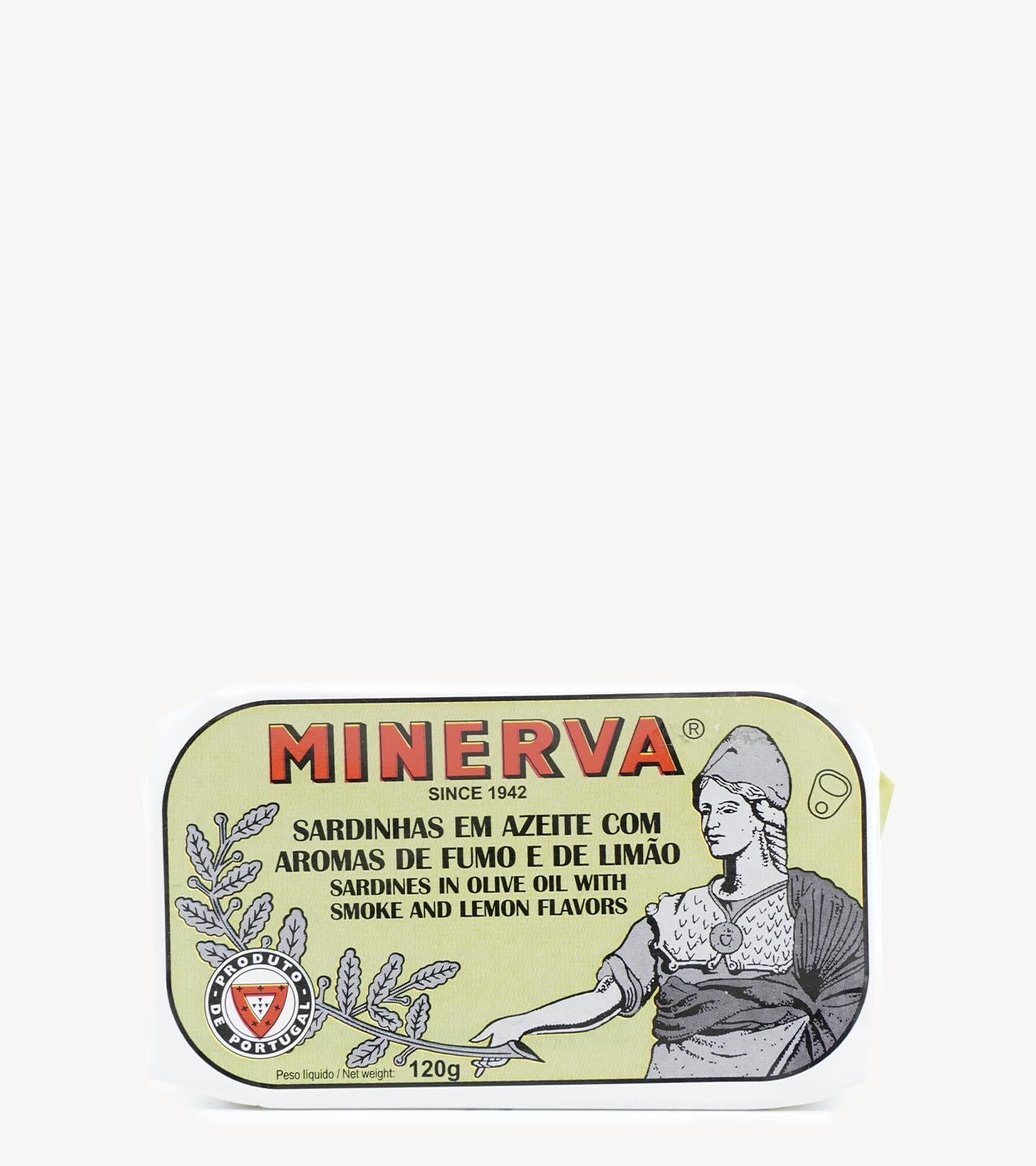 Sardinha com sabor a Fumo e Limão Minerva 120g