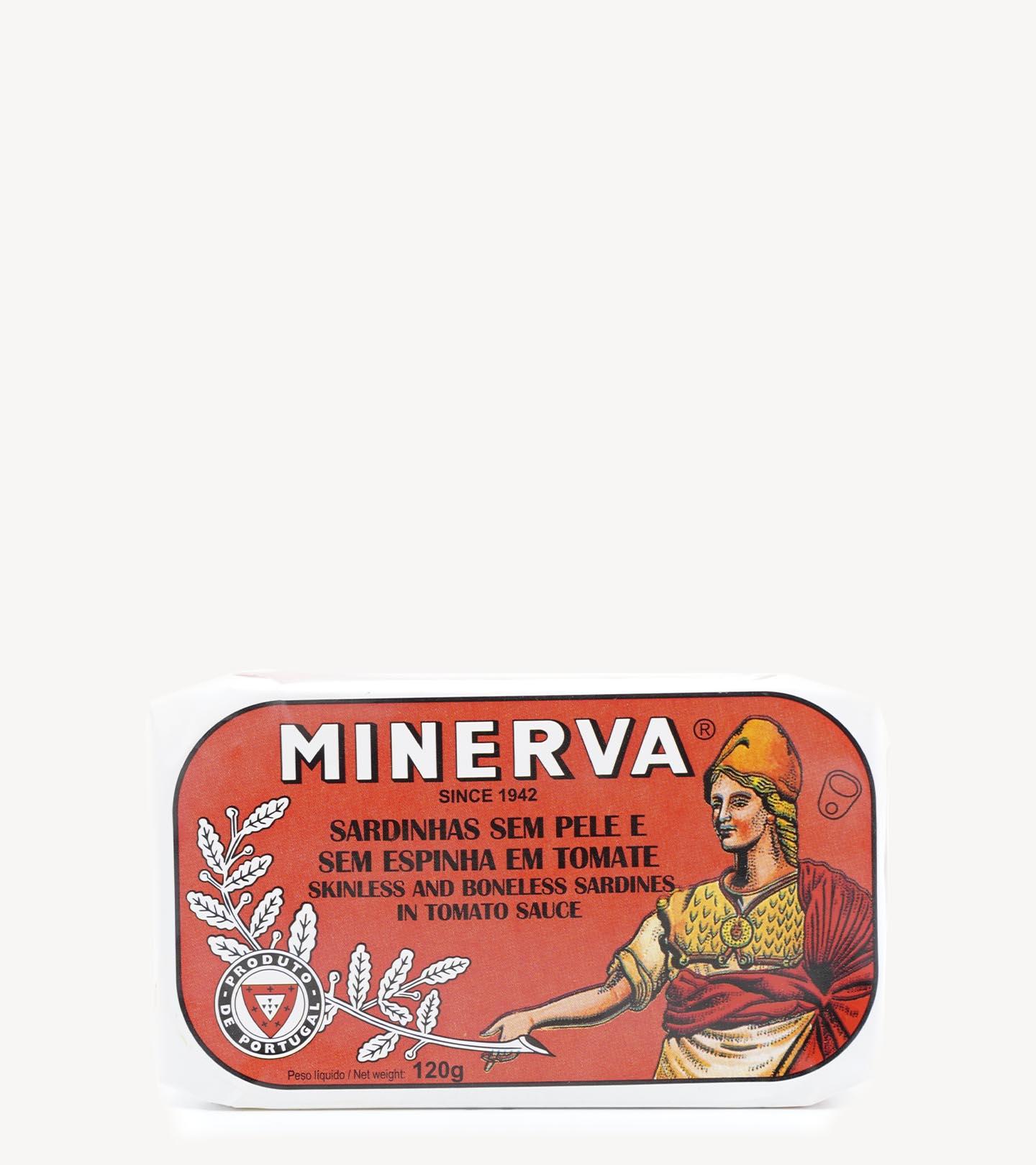 Sardinhas Sem Pele e Sem Espinha em Tomate Minerva 120g