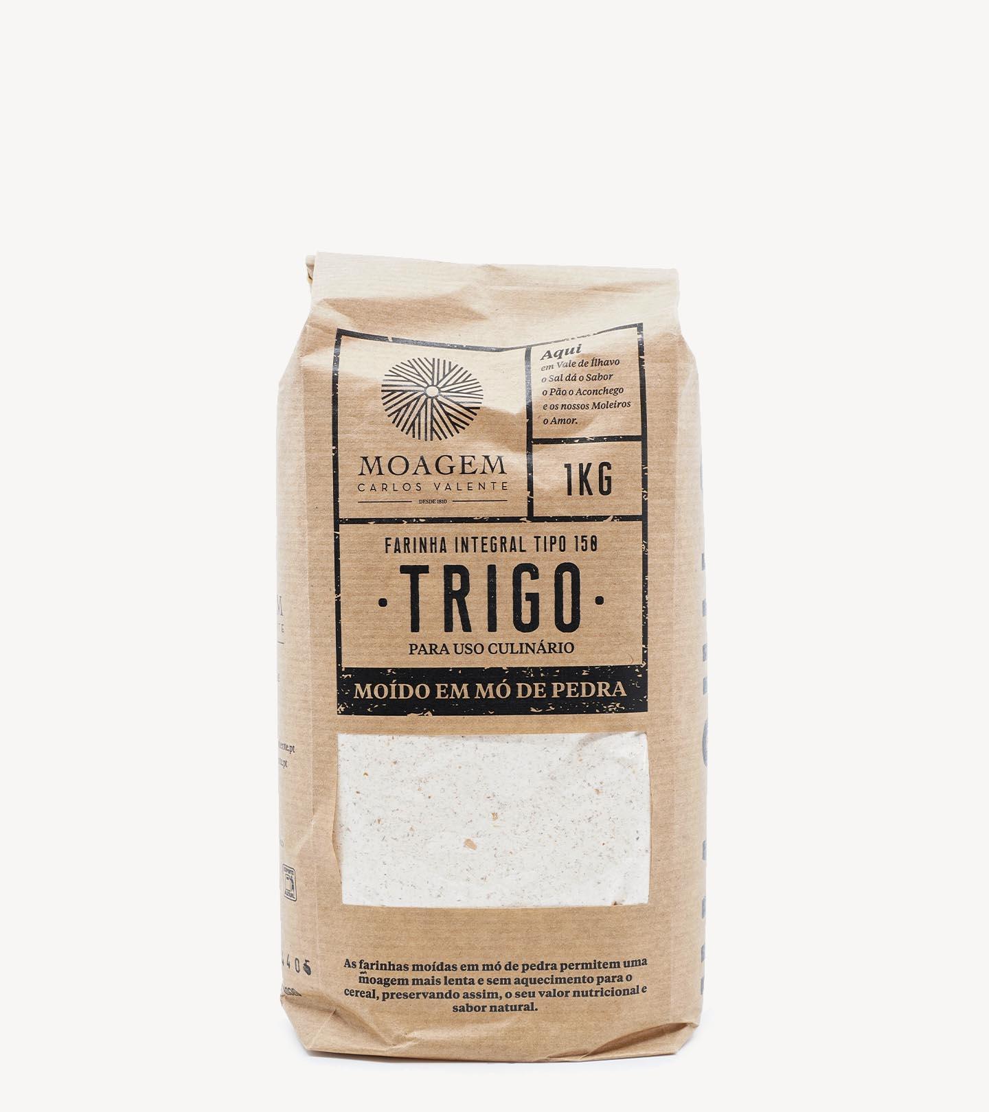 Farinha de Trigo Integral Moagem Carlos Valente 1kg