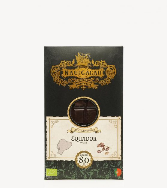 Tablete Chocolate Negro Biológico Equador Nau do Cacau  80g