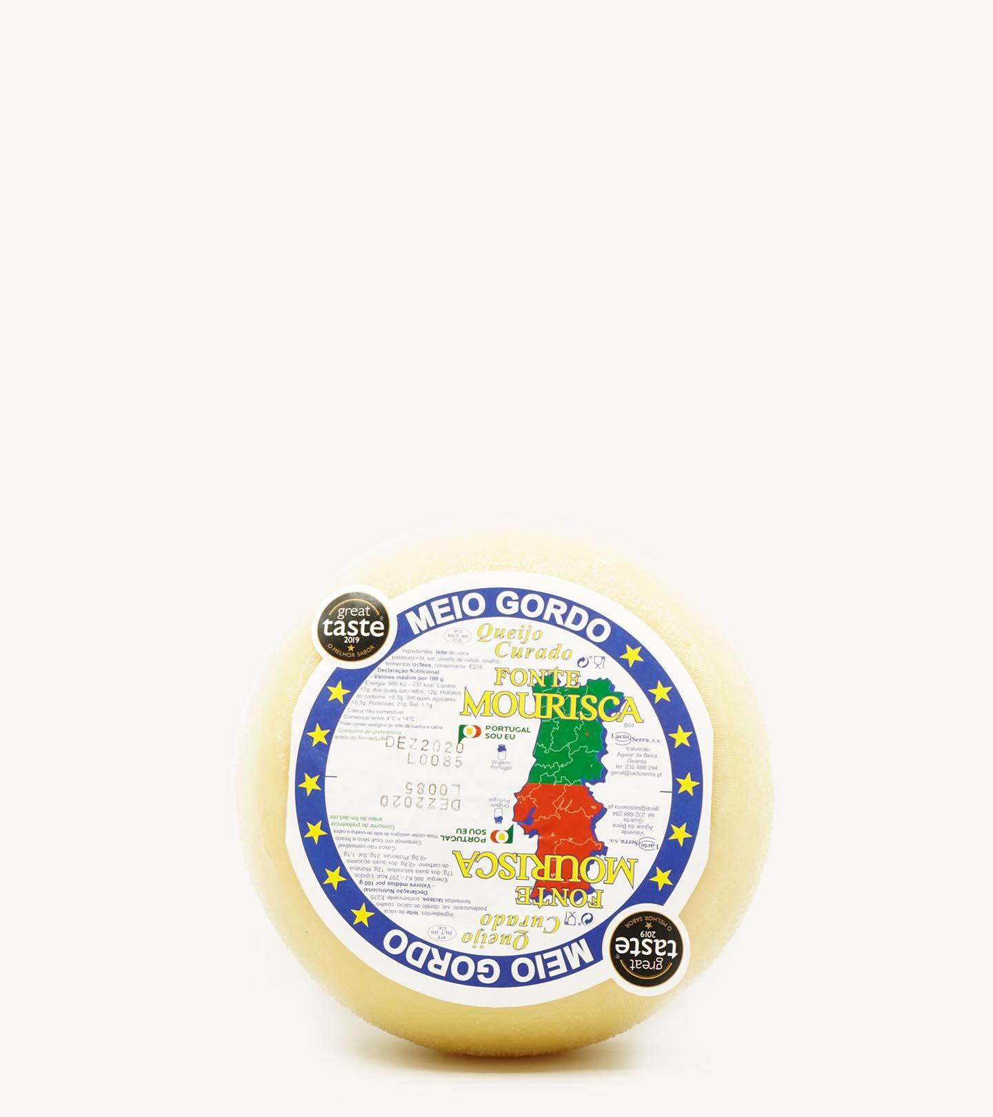 Queijo de Vaca Meio Gordo Fonte Mourisca +/-1kg