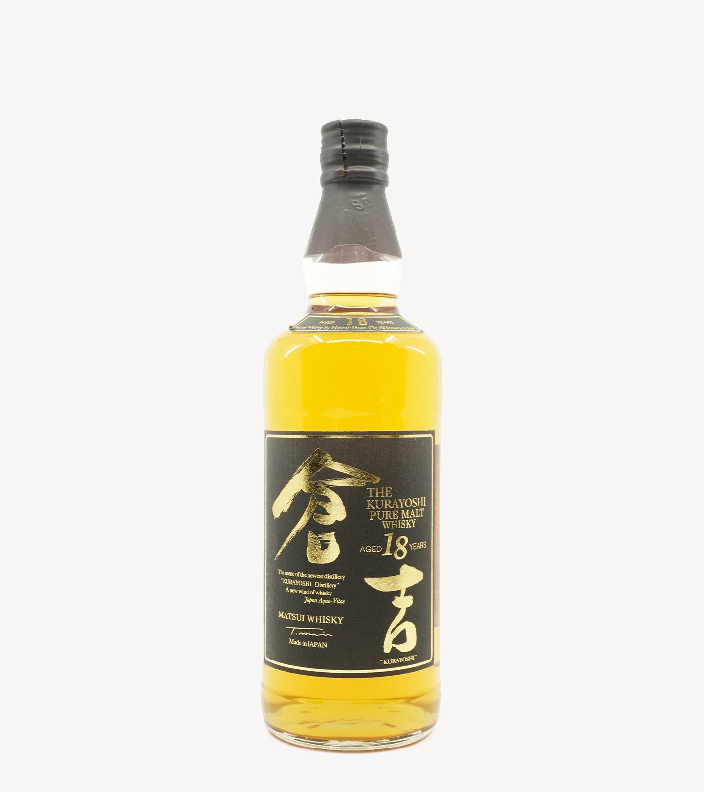 Whisky Malte The Kurayoshi 18 Anos 70cl