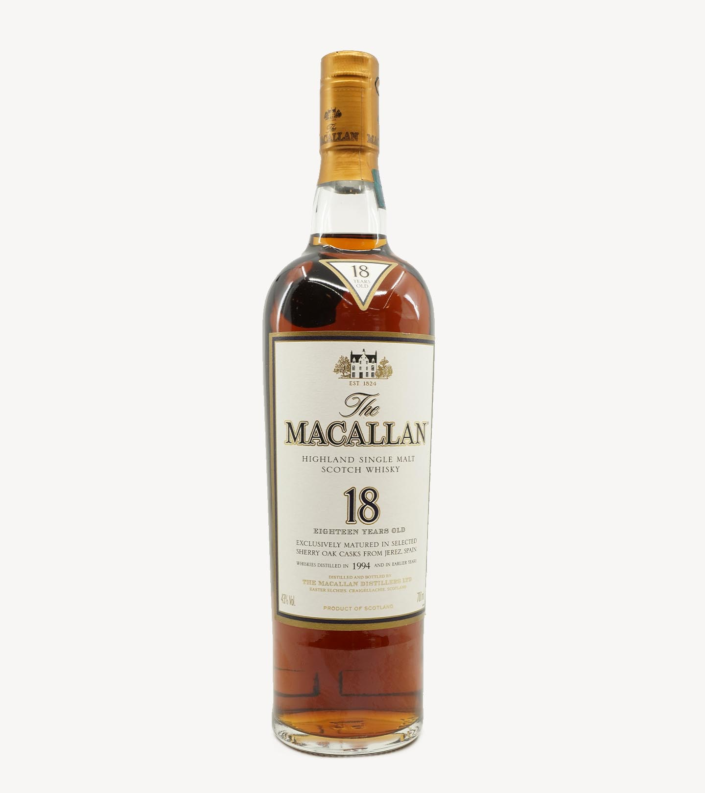 Whisky The Macallan Sherry Oak 18 Anos 70cl