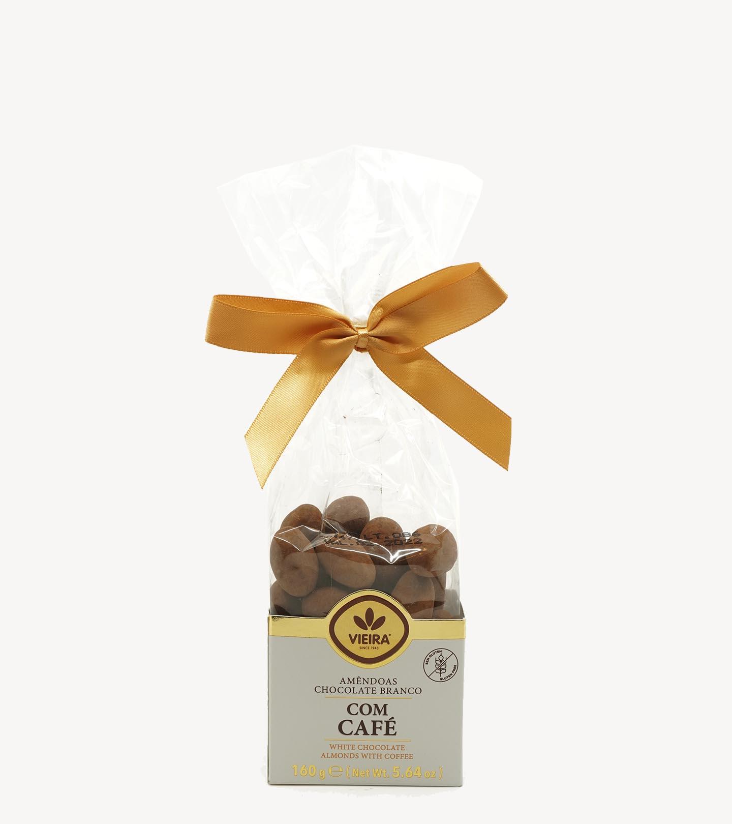 Amêndoas Chocolate Branco com Café Vieira 160g