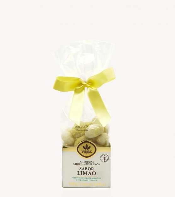 Amêndoas Chocolate Branco com Sabor Limão Vieira 160g