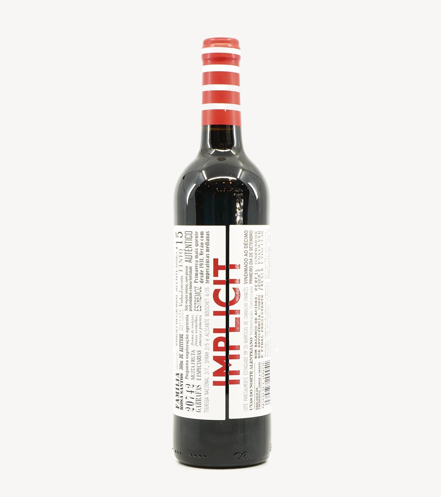 Vinho Tinto Alentejano Implicit 75cl