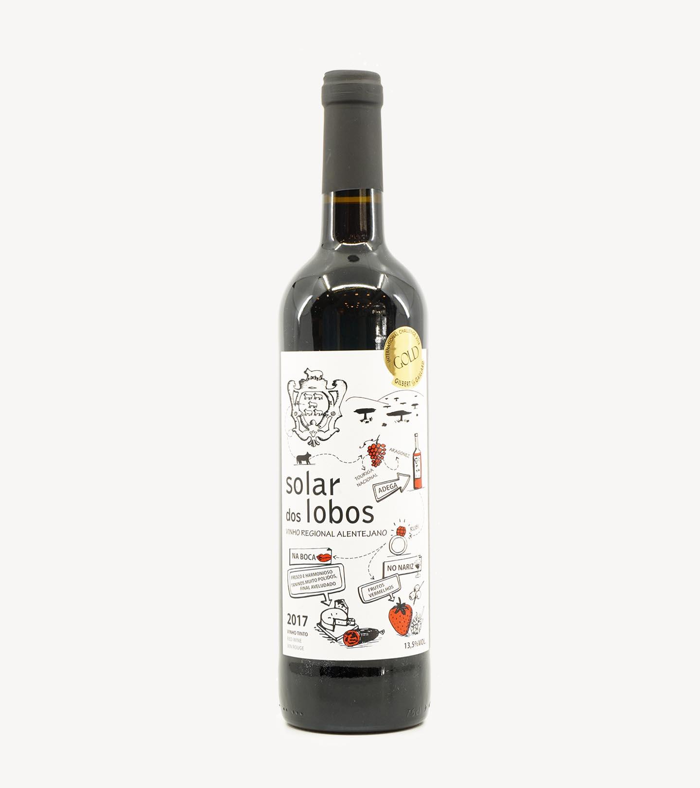 Vinho Tinto Alentejano Solar dos Lobos 75cl